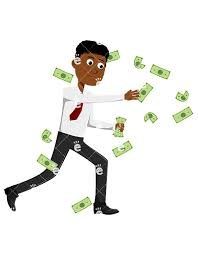 Image result for images  of a black men with money