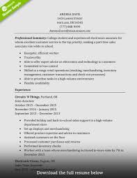 Resume Example For Sales Associate Example Resume For Retail Fresh How To Write A Perfect Sales 16