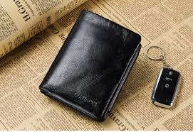 CONTACT'S <b>Genuine Cowhide Leather Men</b> Wallet Trifold Wallets ...