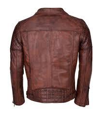men s brando biker motorcycle vintage distressed winter leather jacket