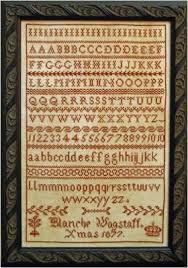Blanche Wagstaff Xmas 1877 Cross Stitch Chart Pineberry