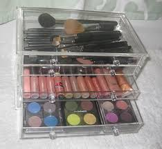 makeup storage idea the clear cube on a budget