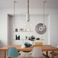 white painted wooden pendant lamp with nautical 2xl 24mm rope in jute cotton and linen country
