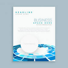 round shapes brochure template vector free