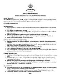 Bar Staff Job Description 200 Beverage Bar Staff Job Description 2017 Pdf Lakewinds