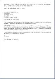 Jury Excuse Letter Template Elsolcali Co
