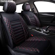 kokololee pu leather car seat covers for geely mk toyota prius jeep grand cherokee bmw x5 f15 e70 f20 x3 x6 auto accessories