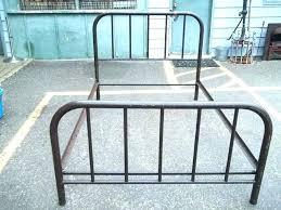 vintage metal bed frame. Interesting Frame Retro Metal Bed Frame Vintage Antique   For Vintage Metal Bed Frame L