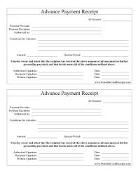 receipt paid advance payment receipt