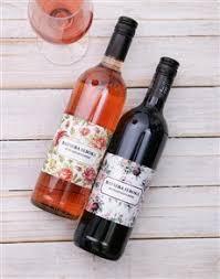 gifts vine flower personalised wine