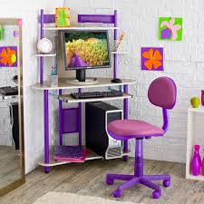 girl bedroom design and decoration using wheel purple teen bedroom chairs including white brick bedroom wall design and corner purple girl computer desk