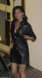 lovely in leather nicole scherzinger ensured she kept her y looks going as she departed