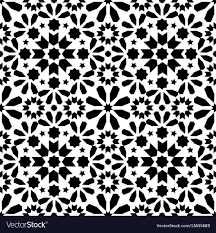 Moroccan Tile Pattern Enchanting Spanish Moroccan Tiles Tile Pattern Black Vector Image