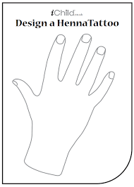 Your Child Can Use This Blank Template Of A Hand To Draw