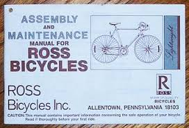 Bicycle Serial Number Chart 1986 Ross Eurotour