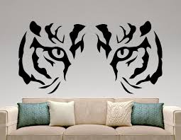 modern hunting style tiger wall decal animal predator wall stickers living room art vinyl mural diy interior wall decals design wall decals designs from