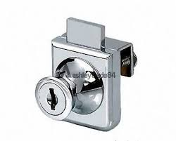 2pcs cabinet display case showcase single glass door lock