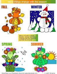 Chart On Winter Season Seasons Chart For Kids Www Bedowntowndaytona Com