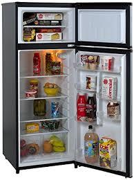 refrigerator amazon. avanti ra7316pst 2-door apartment size refrigerator, black with platinum finish refrigerator amazon