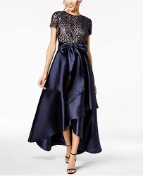 2019 Noble R M Richards Mother Of The Bride Dresses Plus Size Sequined High Low Short Sleeves Mothers Dress Evening Party Gowns Wedding Dresses For