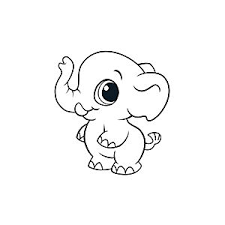 Small Picture Learning Friends Elephant coloring printable
