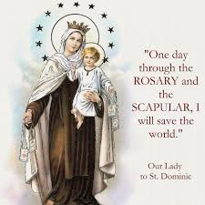 Mount Carmel My Chart Our Lady To St Dominic The Feast Day Of Our Lady Of Mt