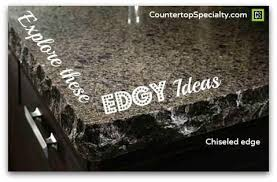 chiseled gray granite countertop edges