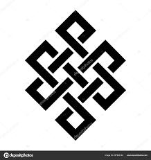 Vnitřnosti Buddhy Nebo Střeva Buddhy Endless Knot Nebo Věčné Uzel