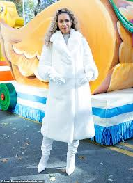 festive magic leona lewis exuded winter chic as she attended the macy s thanksgiving day parade