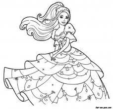 Small Picture Print out Barbie beautiful dress coloring pages Printable