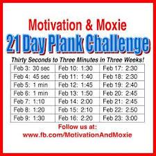 21 Day Plank Challenge Chart Hellsbells Days 21 Day Plank Challenge Plank Challenge
