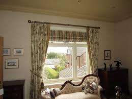 roman blind behind a curtain