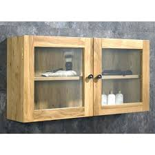 creative ideas wall shelves with glass doors solid oak double door cabinet mounted curio