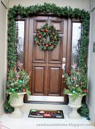... Interesting Front Porch Christmas Decorations : Kiler Front Porch  Christmas Design Ideas With Solid Wood Single ...