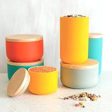 modern kitchen canisters large size of glass mid century canister sets