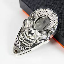 Stainless Steel Double Blades Pocket Cigar Cutter Skull Face ...
