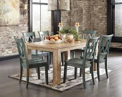room table displays coaster set driftwood: mestler driftwood rectangular dining room table from ashley d  coleman furniture