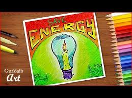 How To Draw Save Energy Poster Chart Drawing For School