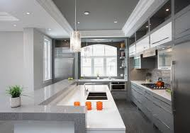 Beautiful Contemporary Galley Kitchens A Modern Kitchen With Narrow Breakfast Bar In Design