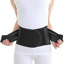 Airlift Lumbar Support Belt - Adjustable Back Brace Instant Lower Pain Relief for Men Amazon.com: