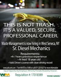 waste management sr sel mechanics
