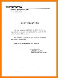 Certificate Of Employment Letter With Salary Emergency Essentials Hq