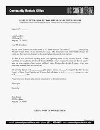 Security Deposit Letter Format Gallery - Letter Format Formal Example