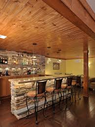 Basement Bar Ideas And Designs Pictures Options  Tips Bar Areas - Unfinished basement man cave ideas