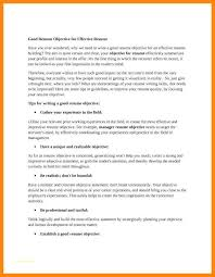 Strong Objectiver Resume Good Career Statement Leadership