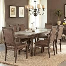 stone brook 7 piece dining set in rustic saddle nebraska furniture mart