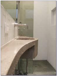 blue glass subway tile shower