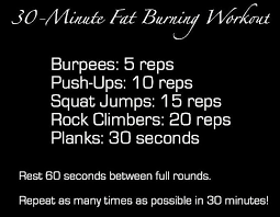 30 minute fat burning workout