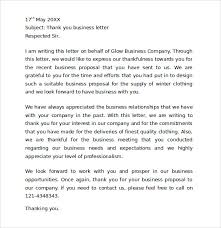 Appreciation Letter Sample Template Stunning 48 Sample Thank You For Your Business Letters Sample Templates