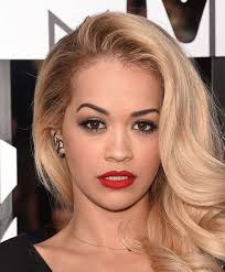 red lips makeup best celebrity evening